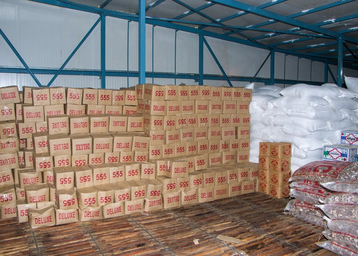 Jaggery stored in cold storage